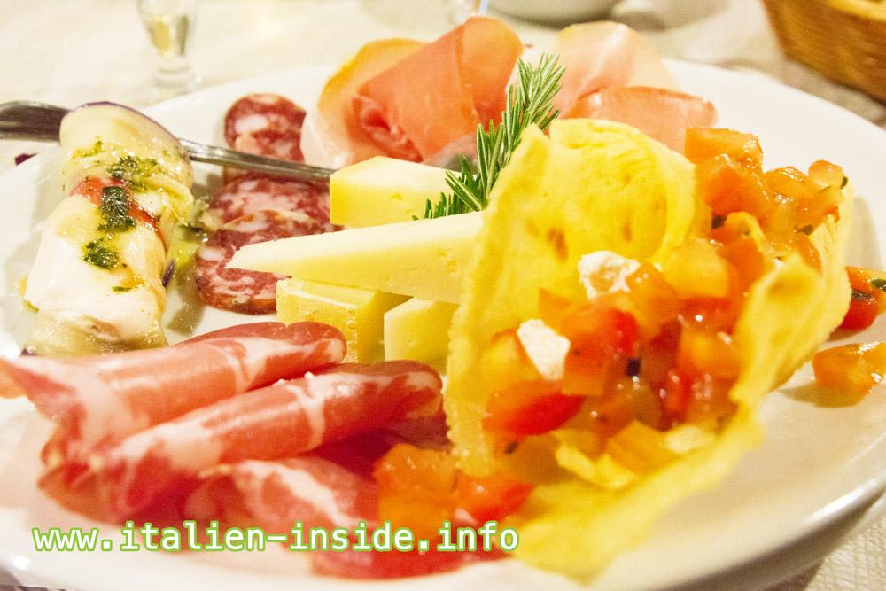 Vorspeise-Agriturismo-Käse-Wurst