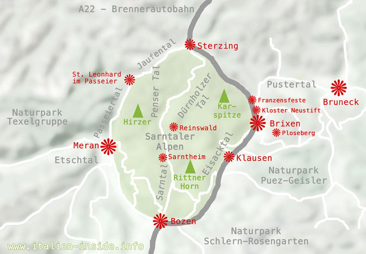 Karte-Brixen