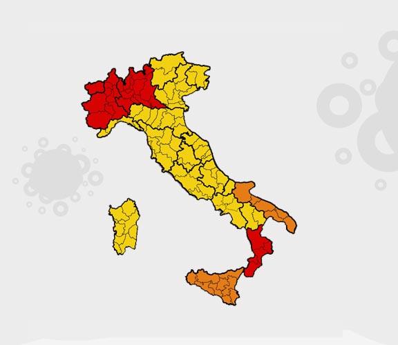 Risikogebiete Corona Italien