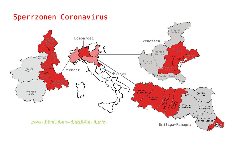 Sperrzonen-Coronavirus