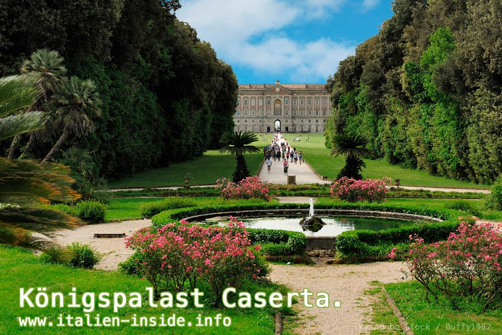 Italien-Garten-Schloss-Caserta