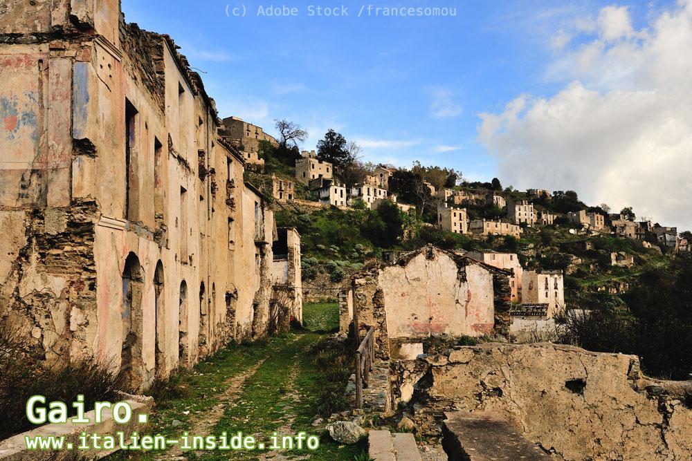 Italien-Verlassenes-Dorf-Gairo