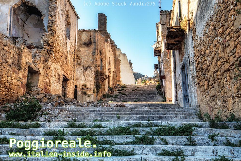 Italien-Geisterstadt-Poggioreale