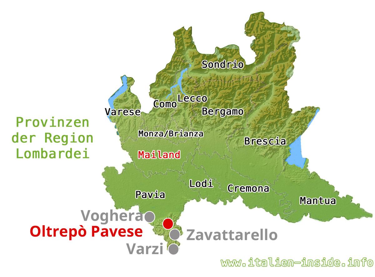 Oltrepò Pavese-Karte