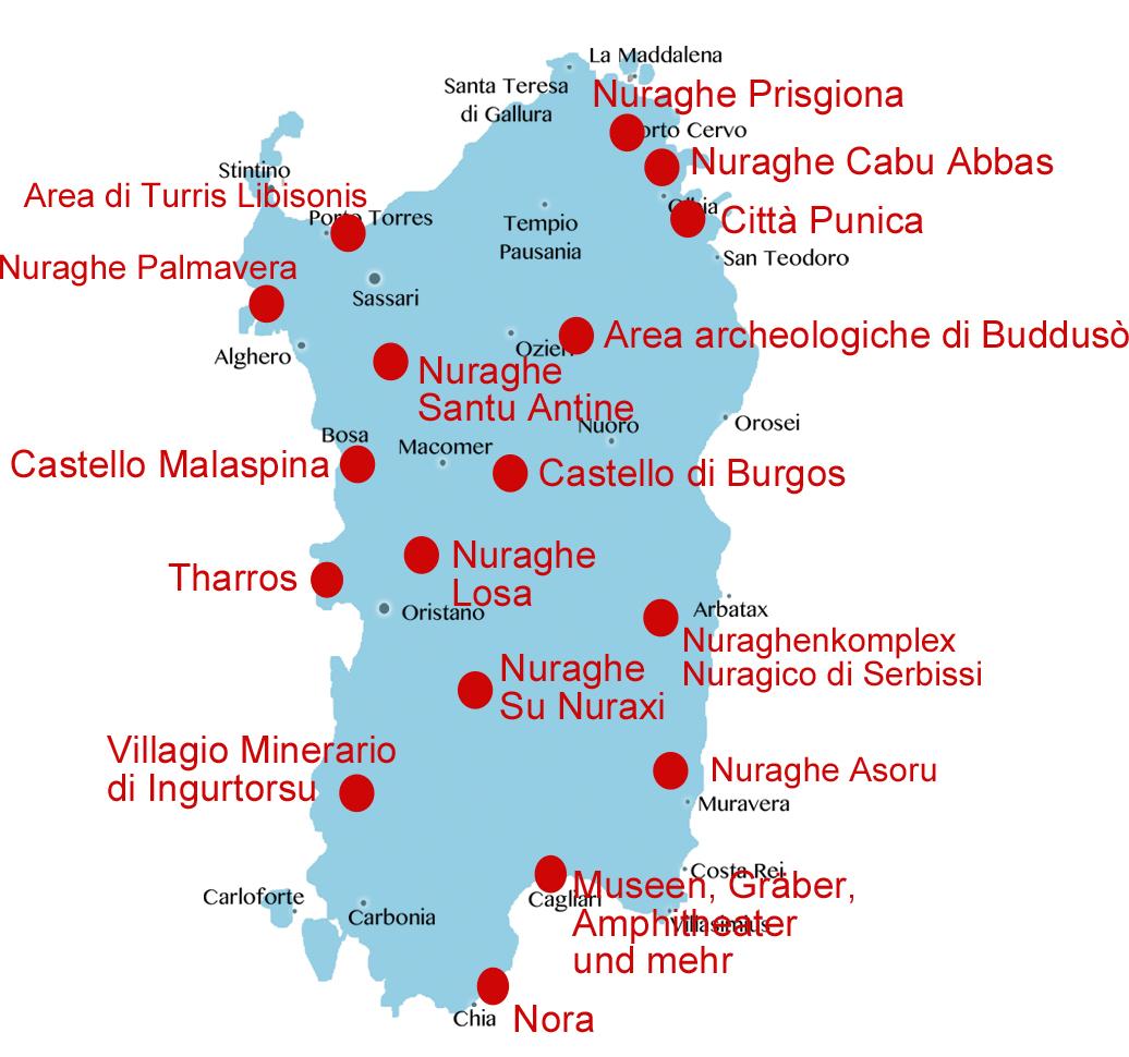 Grabungsstätten-Sardinien