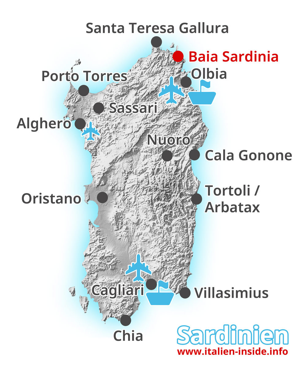 Baia Sardinia   www.italien inside.info