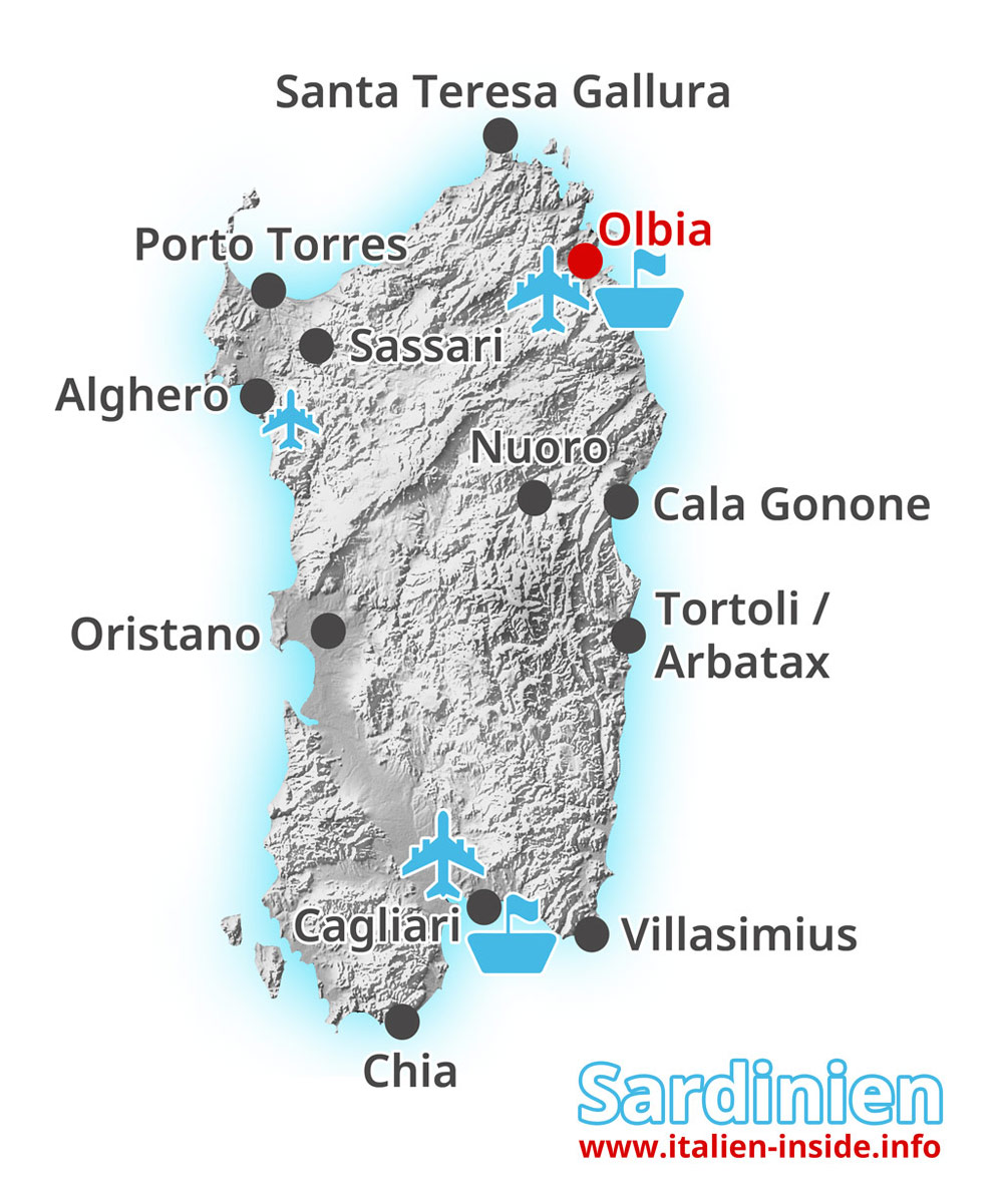 Karte-Olbia