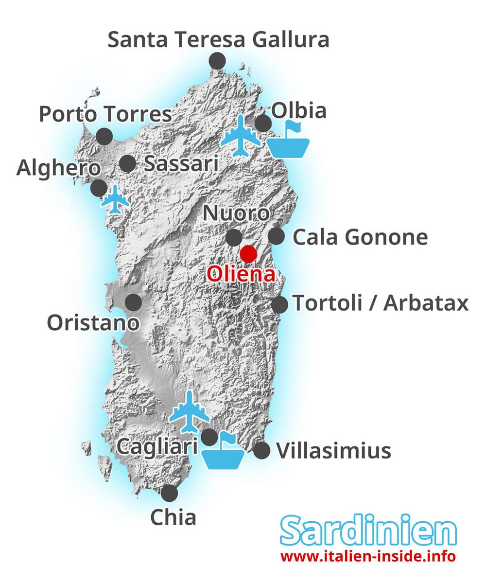 Karte-Oliena