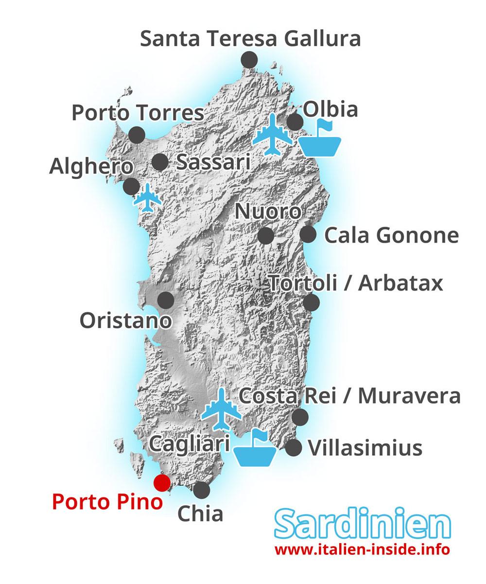 Karte-Porto-Pino