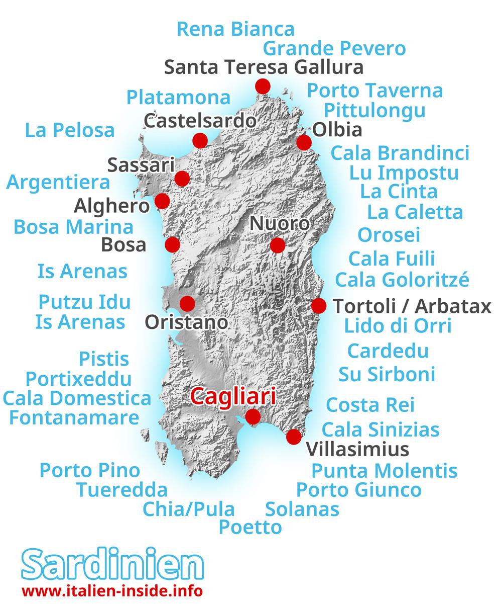 Strände-Sardinien