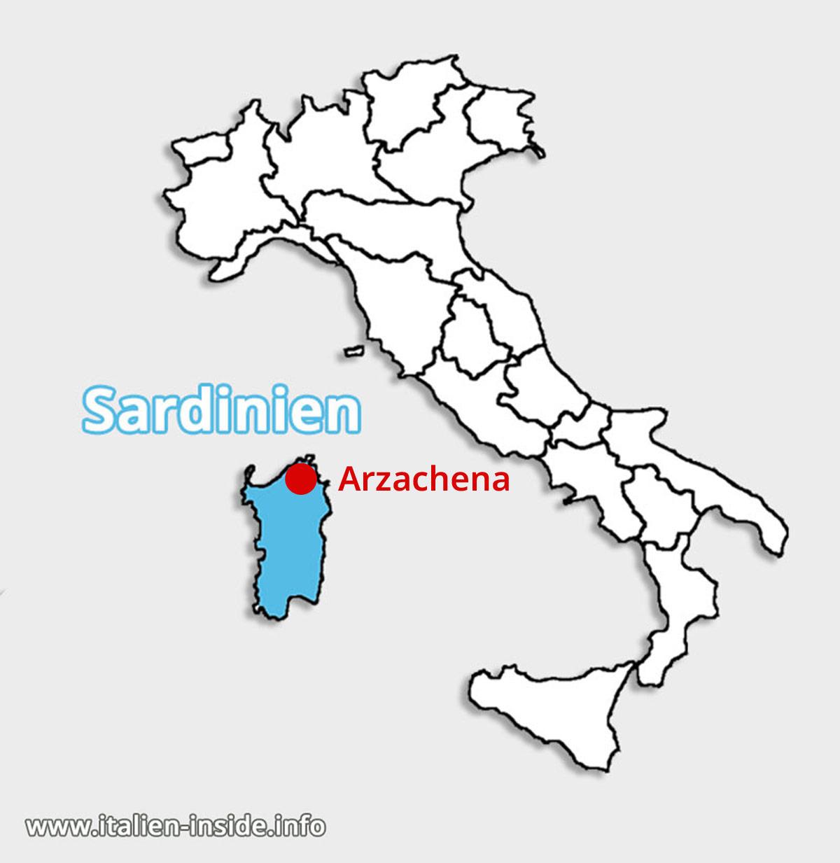 Lagekarte-Arzachena-Sardinien