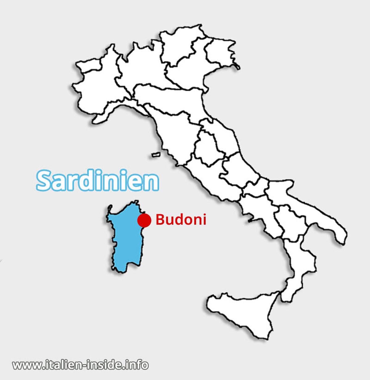 Lagekarte-Budoni-Sardinien