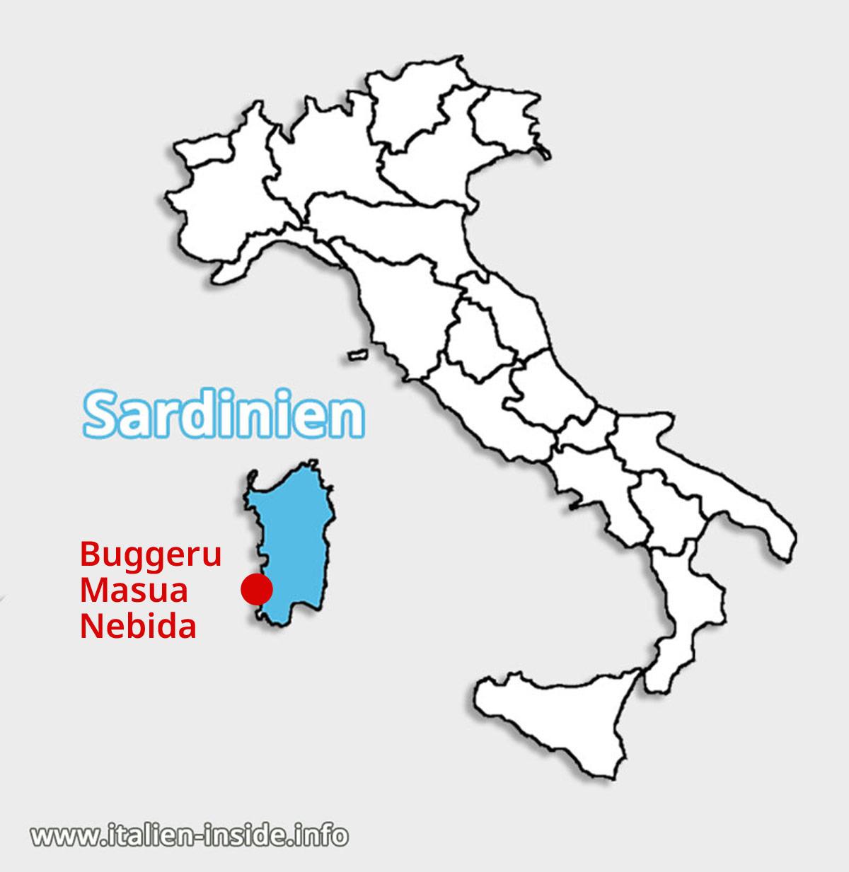 Lagekarte-Buggerru-Masua-Nebida-Sardinien