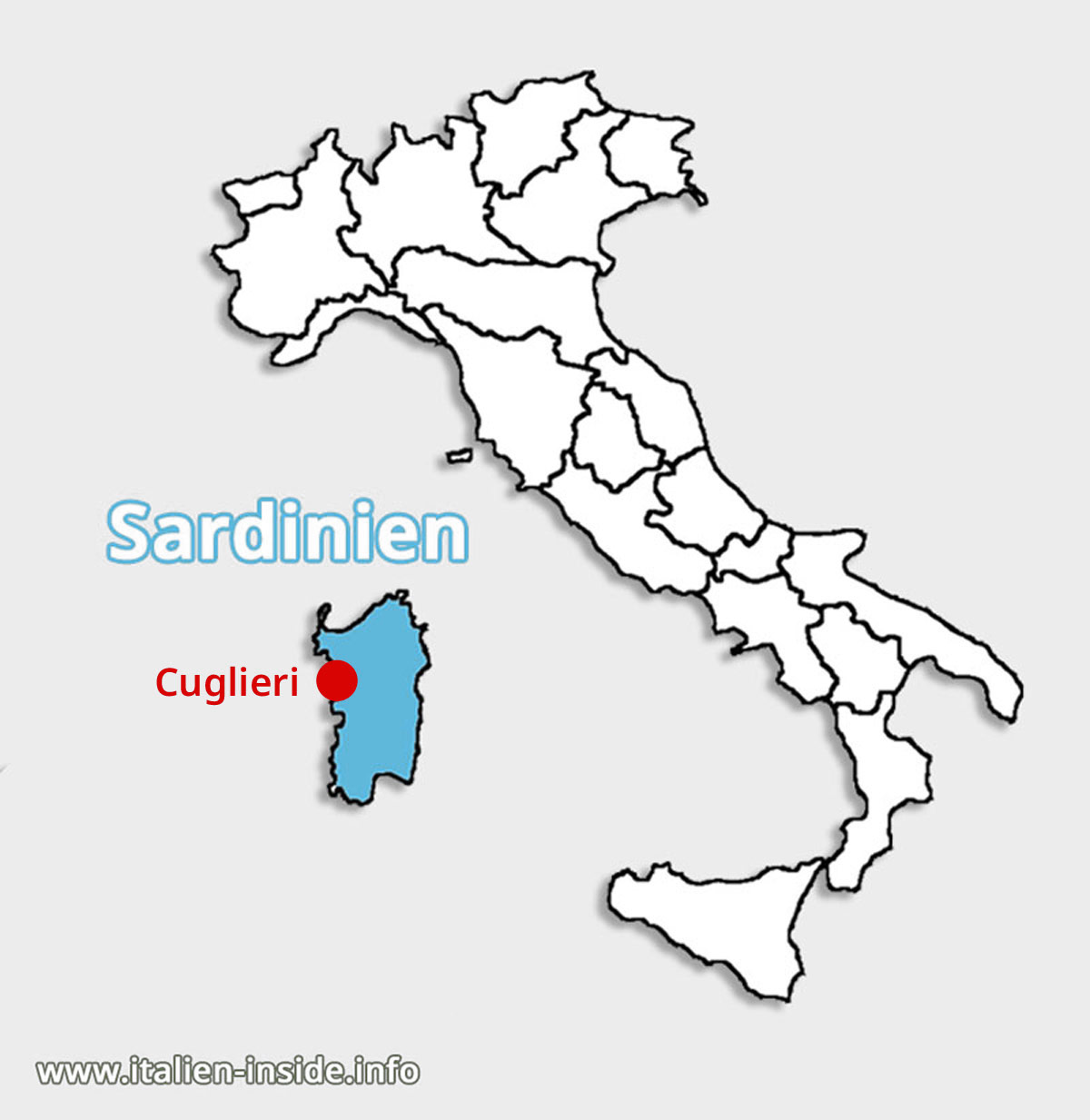 Lagekarte-Cuglieri-Sardinien