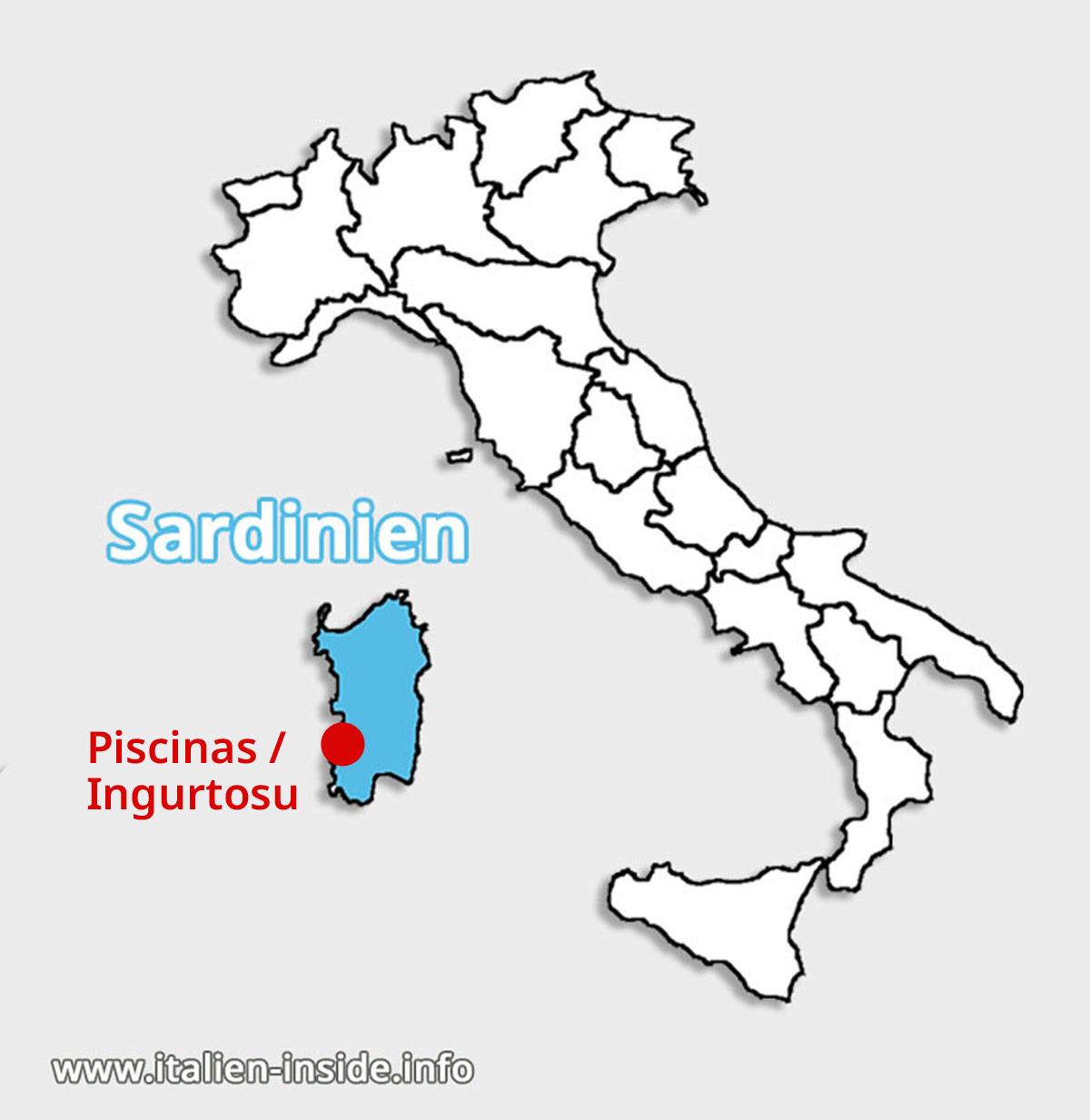 Lagekarte-Piscinas-Ingurtosu-Sardinien