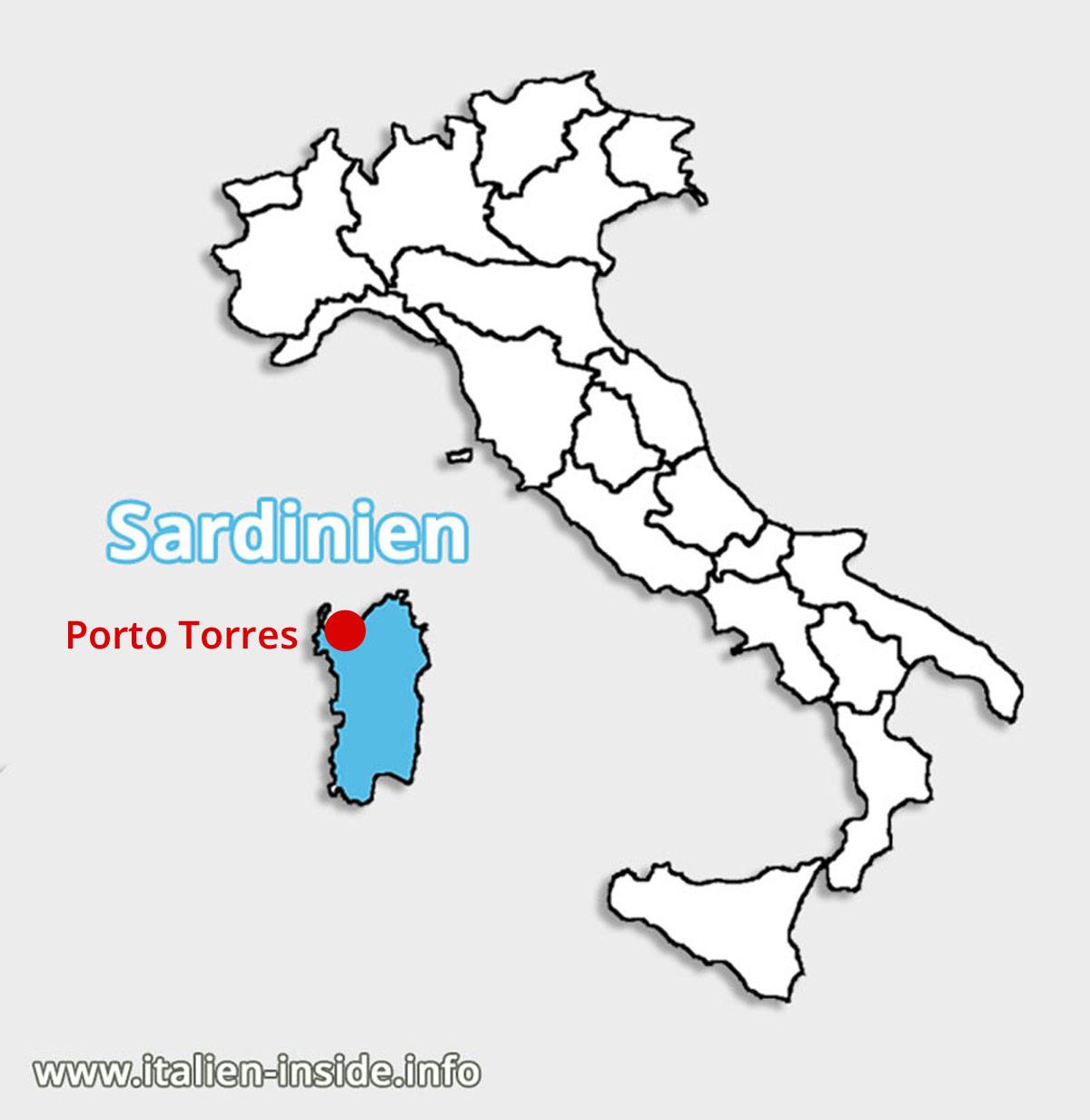 Lagekarte-Porto-Pino-Sardinien