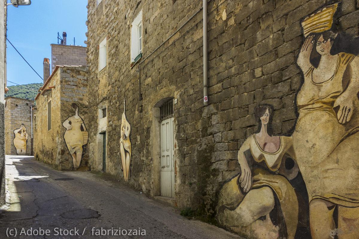 Orgosolo-Wandmalereien-Murales