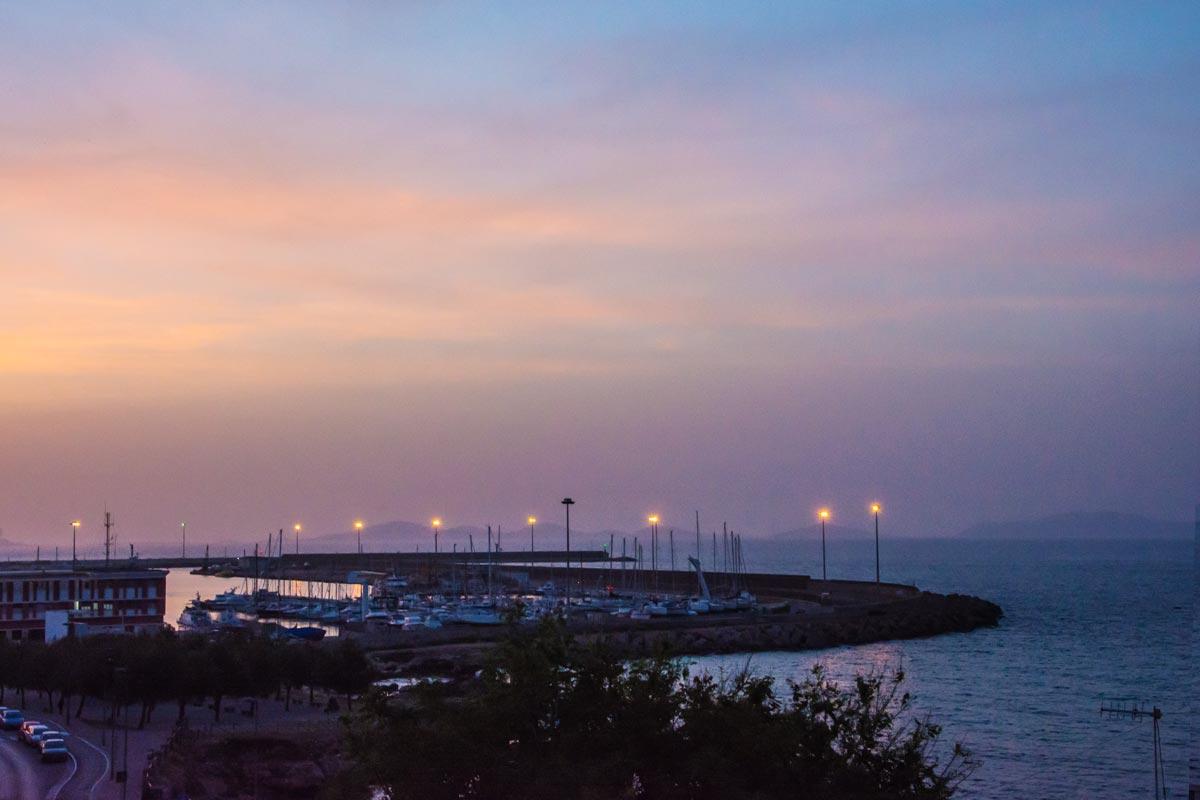 Hafen-Porto-Torres-Abend
