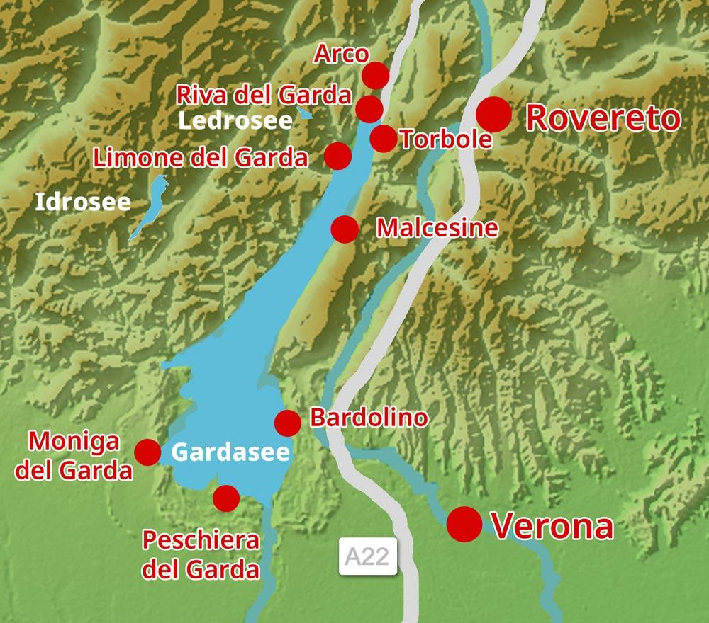 Karte-Peschiera-del-Garda