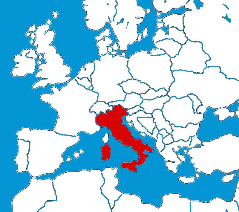 Landkarte Von Italien Laminiert A1 Format 59 4 X 84 1 Cm