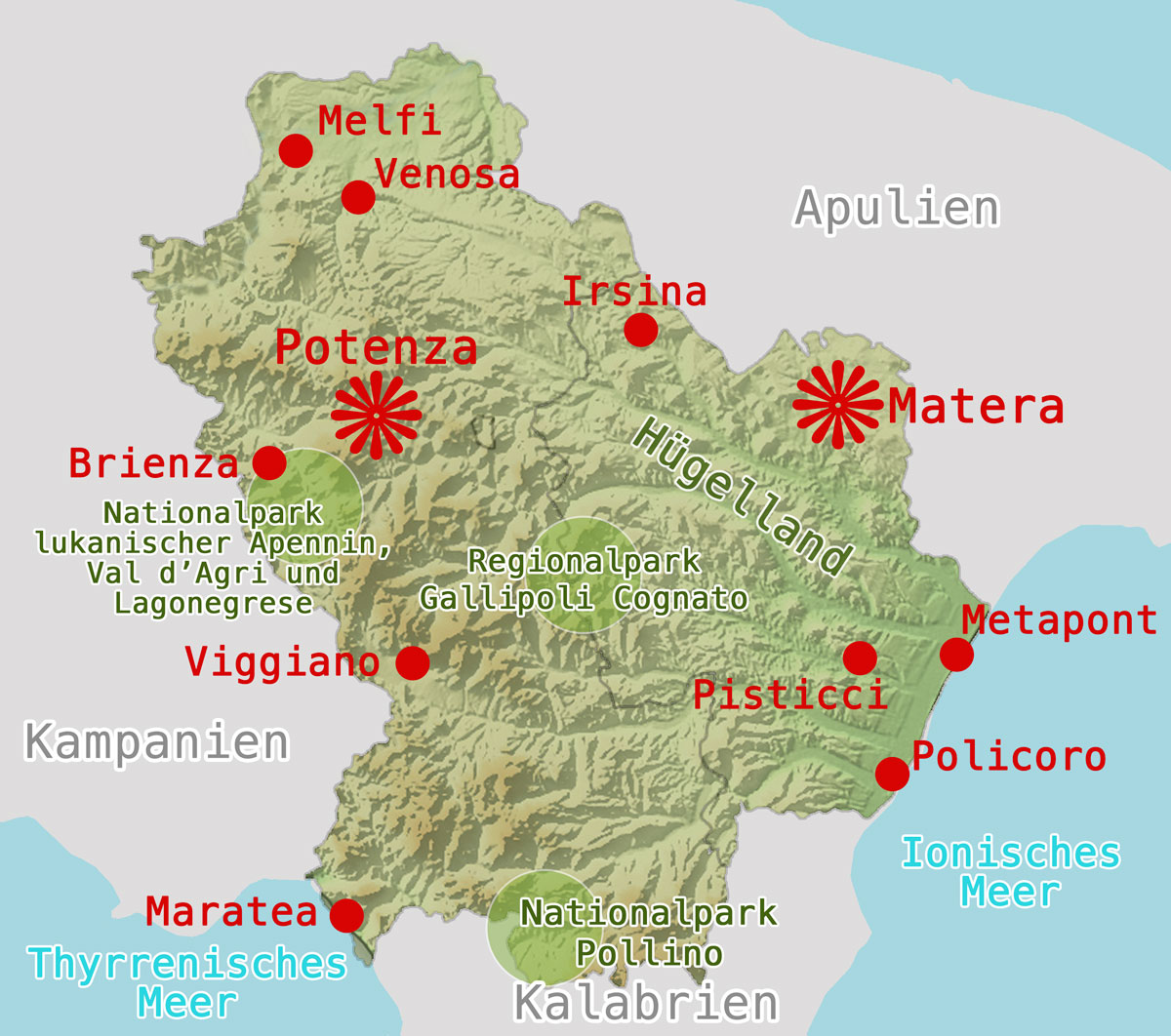 Karte-Basilikata-Orte