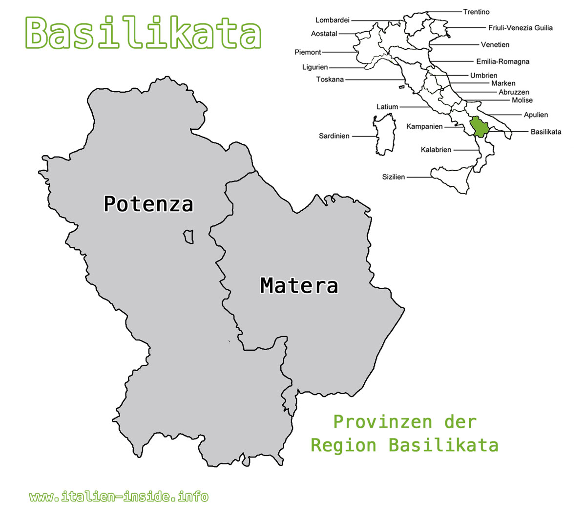 Karte-Basilikata-Provinzen