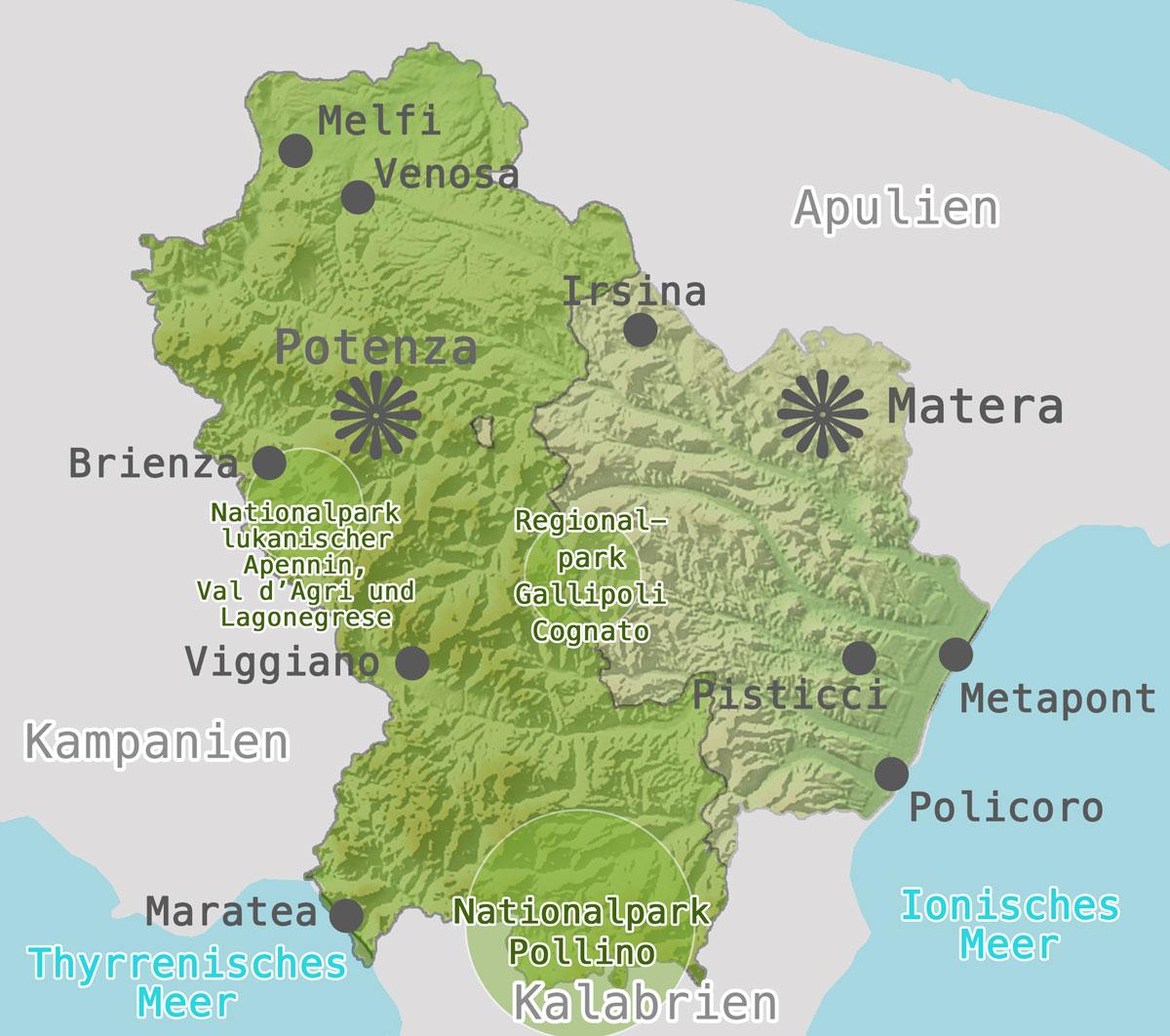 Karte-Provinz-Matera