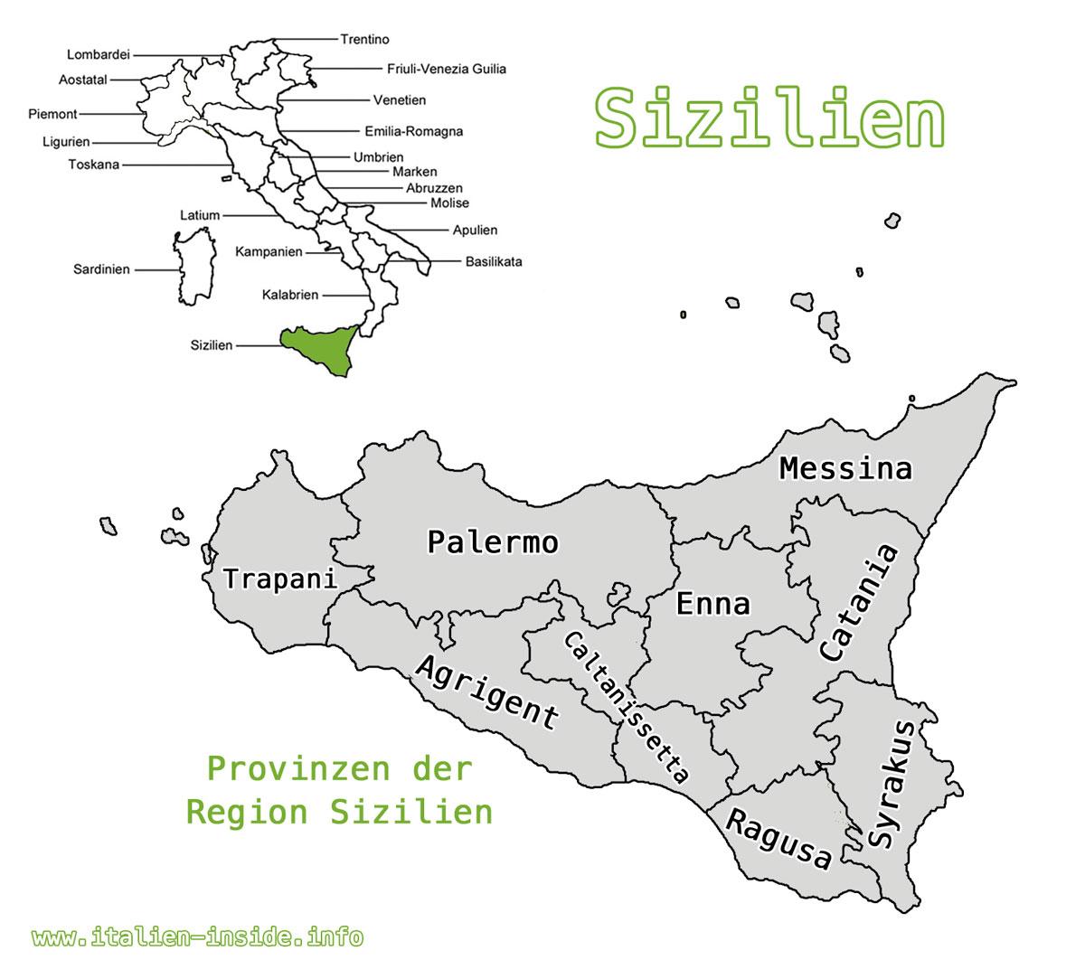 Karte-Sizililen-Provinzen