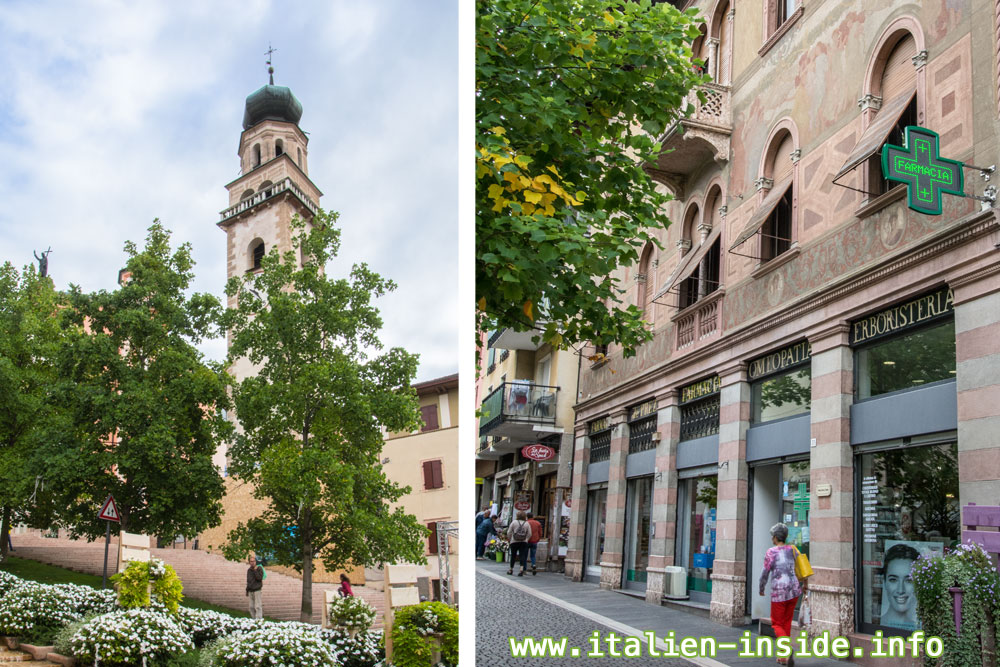 Levico-Terme-Kirche-Bemaltes-Haus
