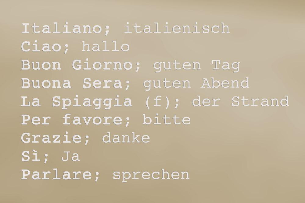 Italienische-Begriffe