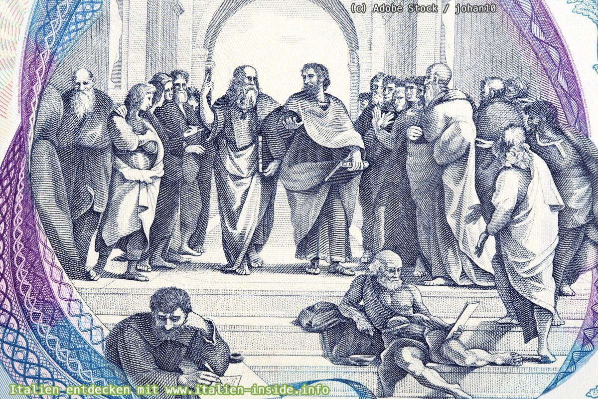 Raffael-Schule-von-Athen-auf-Geldschein