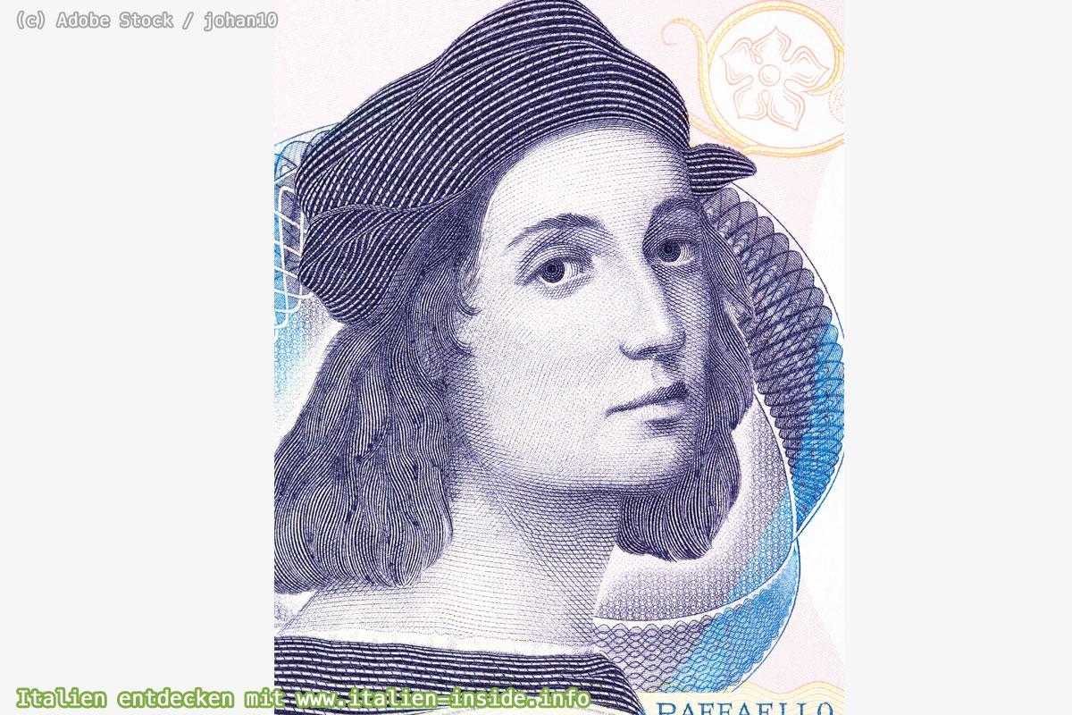 Raffael-Selbstportrait-auf-Geldschein
