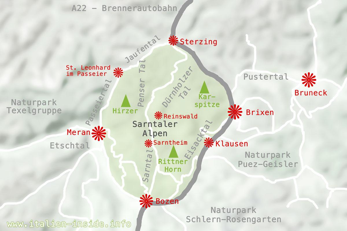 Sarntaler-Alpen-Karte