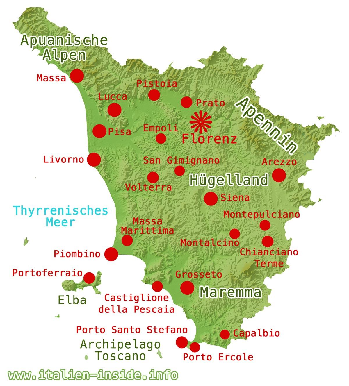 Toskana-Karte